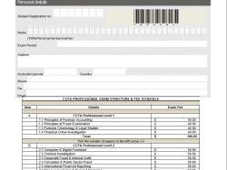 CCFA Exam Registration Form